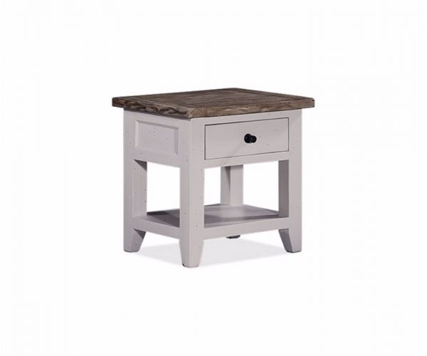Furniture Link Wellington White End Table