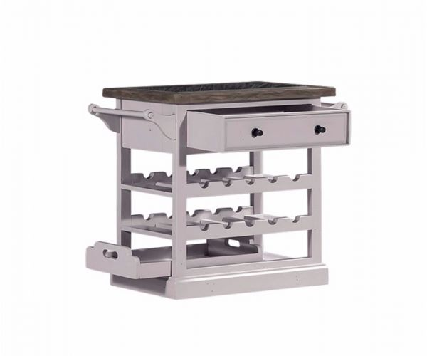 Furniture Link Wellington White Granite Top Wine Rack