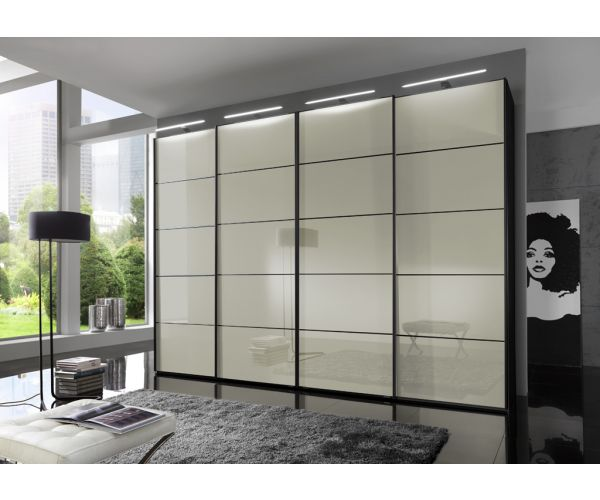 Wiemann Westside Magnolia Glass and Mirror Sliding Door Wardrobe