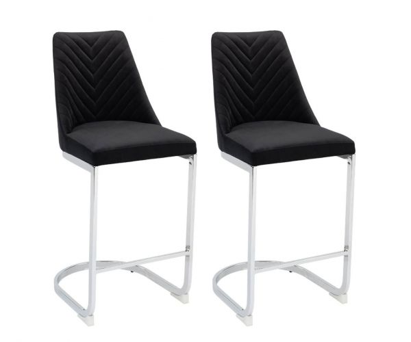 Derrys Furniture Wilton Black Bar Chair in Pair