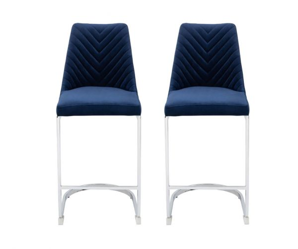 Derrys Furniture Wilton Blue Bar Chair in Pair