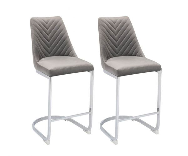 Derrys Furniture Wilton Grey Bar Chair in Pair