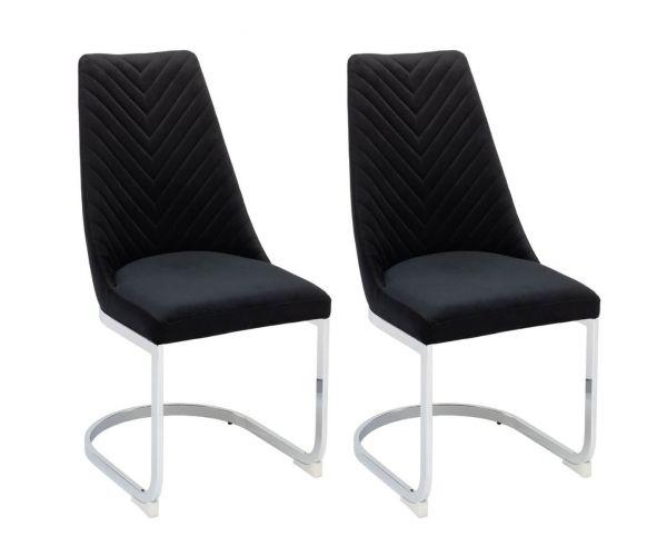 Derrys Furniture Wilton Black Dining Chair in Pair