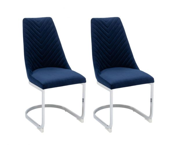 Derrys Furniture Wilton Blue Dining Chair in Pair