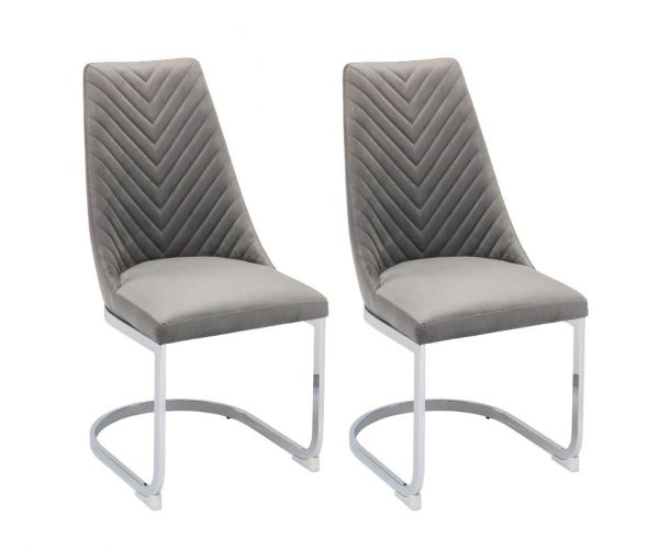 Derrys Furniture Wilton Grey Dining Chair in Pair