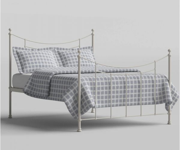 Original Bedstead Company Winchester Glossy Ivory Metal Bed Frame
