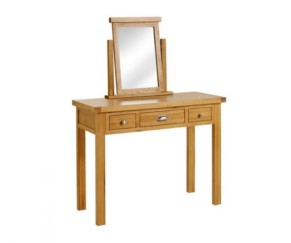 Birlea Furniture Woburn Oak 3 Drawer Dressing Table Only