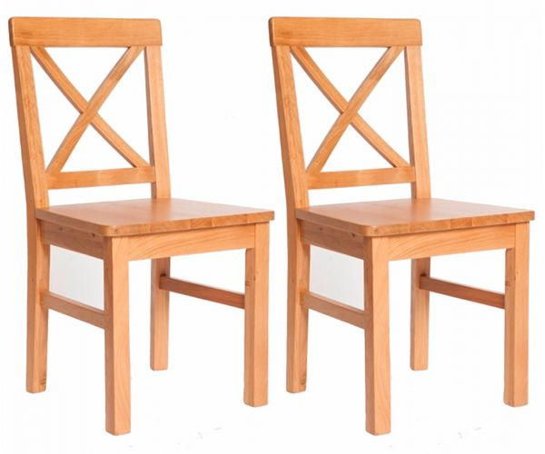 Furniture Link York Oak Dining Chair With Wooden Seat