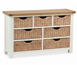 Global Home Suffolk 3+4 Drawer Chest with Basket