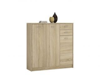 FTG 4 You Sonama Oak Tall 3 Door 2 Drawer Cupboard