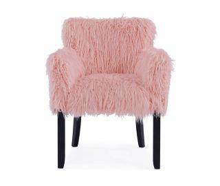 Derrys Furniture Faux Sheepskin Pink Tub Chair
