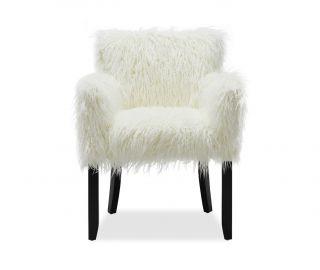 Derrys Furniture Faux Sheepskin White Tub Chair