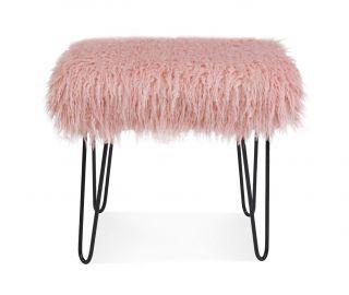 Derrys Furniture Sheepskin Pink Dressing Table Stool