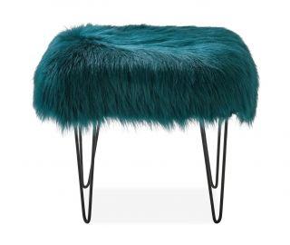 Derrys Furniture Sheepskin Teal Dressing Table Stool