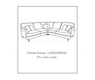 Buoyant Upholstery Beatrix Standard Back Large Corner Sofa (L2, CO, R2)
