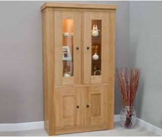 Homestyle GB Bordeaux Oak Glass Display Cabinet