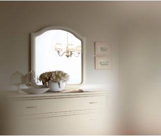 Camel Group Nostalgia Antique White Vanity Dresser Mirror