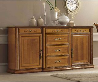 Camel Group Siena Cherry Finish 3 Door 3 Drawer Buffet