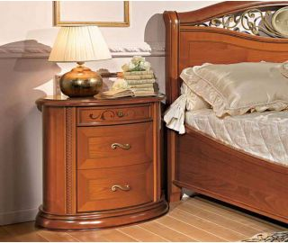 Camel Group Siena Cherry Finish 3 Drawer Night Table