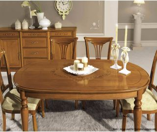 Camel Group Siena Cherry Finish Oval Extension Dining Table