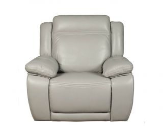 Annaghmore Cheshire Light Grey Leather Armchair