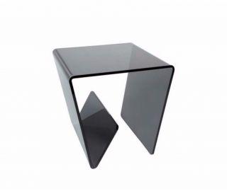 Greenapple Furniture Combi Smoked Glass Lamp Table