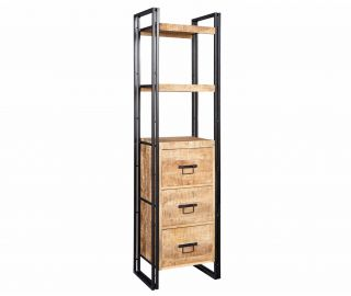 Indian Hub Cosmo Industrial Slim Bookcase