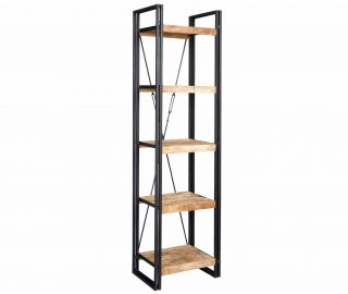 Indian Hub Cosmo Industrial Slim Open Bookcase