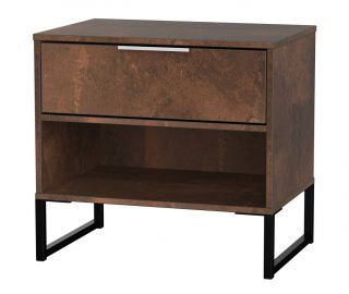 Welcome Furniture Diego Copper Finish Double 1 Drawer Locker