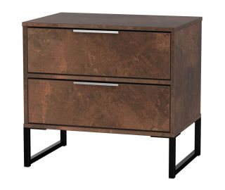 Welcome Furniture Diego Copper Finish Double 2 Drawer Locker