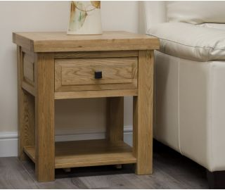 Homestyle GB Deluxe Oak Lamp Table