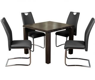 Annaghmore Encore Charcoal Dining Table with Claren Grey Chairs