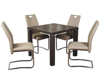 Annaghmore Encore Charcoal Dining Table with Claren Khaki Chairs
