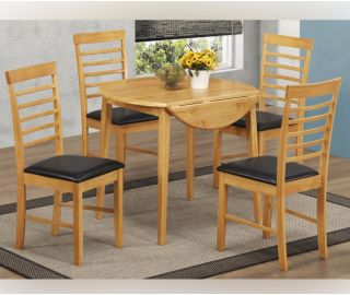 Annaghmore Hanover Round Drop Leaf Dining Table with 4 Chairs