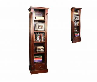 Baumhaus La Roque Dark Wood Narrow Alcove Bookcase