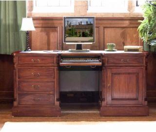 Baumhaus La Roque Mahogany Twin Pedestal Computer Desk