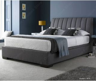 Kaydian Beds Lanchester Grey Fabric Ottoman Bed Frame