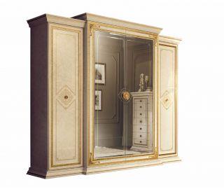 Arredoclassic Leonardo Italian 4 Door Large Wardrobe