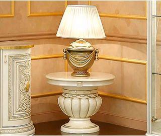 Camel Group Leonardo Ivory and Gold Finish Lamp Table