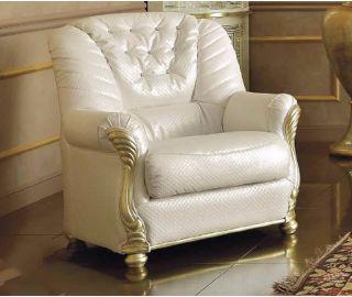 Camel Group Leonardo White Leather Armchair
