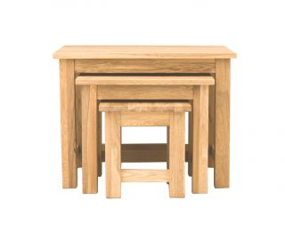 Baumhaus Mobel Oak Nest Of 3 Coffee Tables