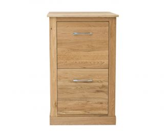 Baumhaus Mobel Oak 2 Drawer Filing Cabinet