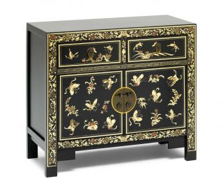 Baumhaus The Nine Schools Oriental Decorated Black Sideboard