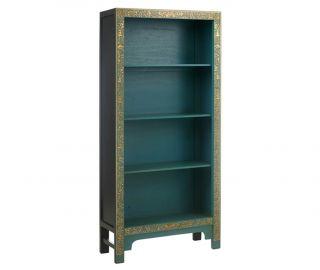 Baumhaus The Nine Schools Oriental Decorated Blue Bookcase