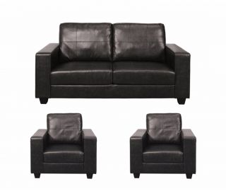 Annaghmore Queensbury Faux Leather 3+1+1 Sofa Suite