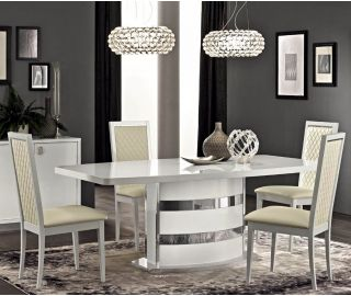 Camel Group Roma White High Gloss Extension Dining Table
