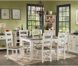 Annaghmore Santorini Painted Large Dining Set