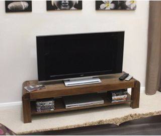 Baumhaus Shiro Walnut Low TV Cabinet