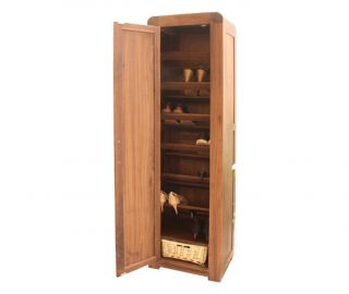 Baumhaus Shiro Walnut Tall Shoe Cupboard