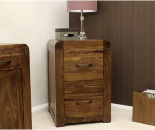 Baumhaus Shiro Walnut 2 Drawer Filling Cabinet